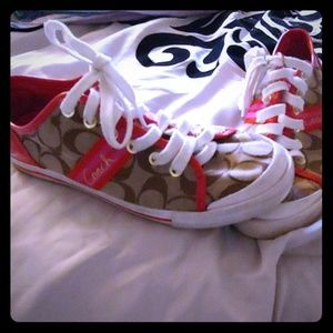 Coach sneakers, size 8.5, used